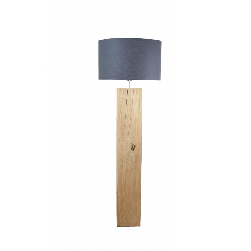 Massief houten vloerlamp eiken - Houten drie voet lamp ...