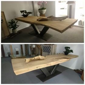 Teak houten tafel met V poot