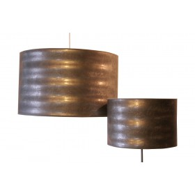 Lampenkap van behang rond 45 cm