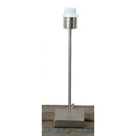Lampenvoet rvs 34 cm hoog.