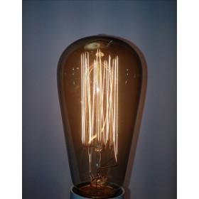 Global Lux Classic Deco Rustica lamp 40W E27 235V 64x135mm rookglas