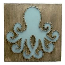 Schilderij octopus  20cm breed 20cm hoog en 3cm diep