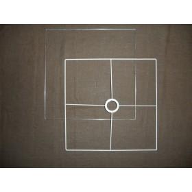 Lampenkap frame vierkant.