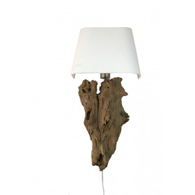 Hout stronk wortel wandlamp