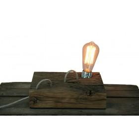 Tafellamp plank met rustica Deco lamp