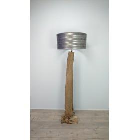 Vloerlamp teakhout