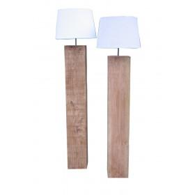 Massief houten vloerlamp kleur lichte beits