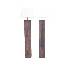 Massief houten vloerlamp kleur donker beits
