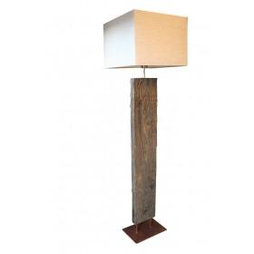 Vloerlamp oud eiken wagonbielzen 135 cm