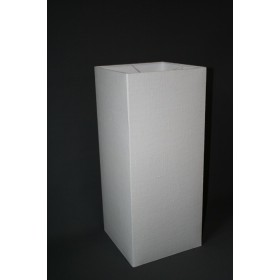 Vierkante lampenkap 30x30x70 wit linnen kant en klaar