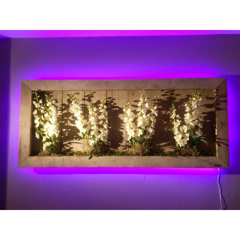 Schilderij Hout LED 170 breed 60 hoog en 8 diep